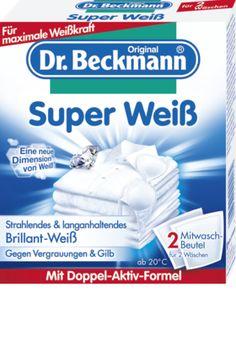 Durch häufiges Waschen bei niedrigen Temperaturen oder Kalkablagerungen in der Waschlauge vergilbt und vergraut die Wäsche oft. Dr. Beckmann Super Weiß...