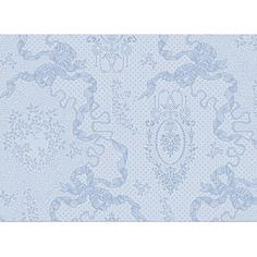 Set de table Cérémonie Garnier-Thiebaut - Modèle : Mille rubans - Set de table en coton anti-tache - Coloris : porcelaine