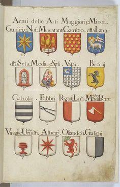 Stemmi delle Arti fiorentine, sec. XVIII Firenze, Archivio di Stato