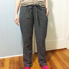 McCall's 6659, view G, pj pants by @soisewedthis