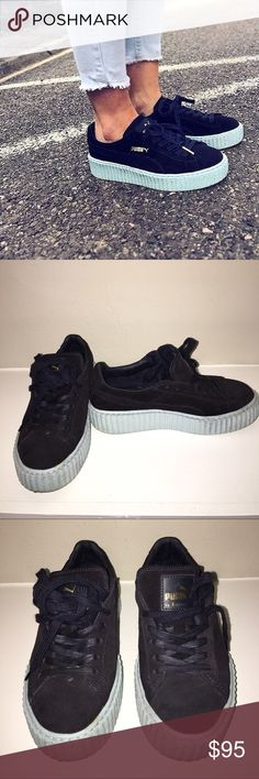 Rihanna x Puma Creeper Sneakers MAKE ME AN OFFER!!   Rihanna x Puma Creeper Sneakers. Worn about 3 times over the past summer. In good shape. Just needs to be cleaned at the bottom (I've cleaned the bottom as best as possible). These sneakers do not come with the original box. What you see is what you will be sent. Puma Shoes Sneakers