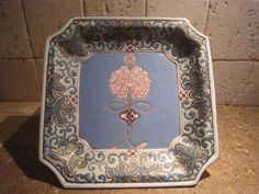 Asian Bowl, Square, Blue Dish With Flowers, Teal Accents by SoulsationsVintage on Etsy Vintage Wall Art, Vintage Walls, Asian Bowls, Blue Dishes, Teal Accents, Dining Room Wall Decor, Vintage Items, Flowers, Etsy