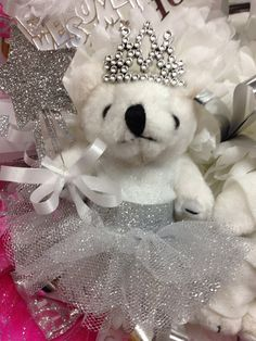 Custom Dressed Bear Homecoming Garter Mum TuTu by PCBoutique