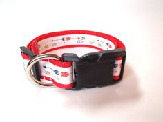 Dog Collar with arrows Personalized Dog by EastTexasEmbroidery