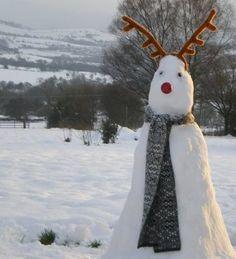reindeer snowman