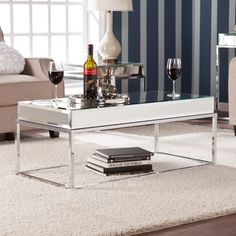 Shop for Harper Blvd Adelie Mirrored Coffee/ Cocktail Table. Get free shipping at Overstock.com - Your Online Furniture Outlet Store! Get 5% in rewards with Club O!
