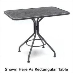 "Woodard Mesh Top Contract 36"" Square Dining/Umbrella Table Finish: Mojave"