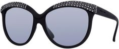 Italia Independent I-Lux Matte Cat-Eye Sunglasses, Black