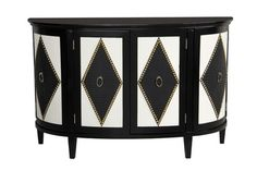 Console Accent Chest in Black/White | Pulaski | Home Gallery Stores