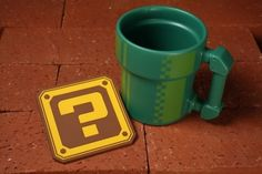 Super Mario cup and coaster from Fangamer