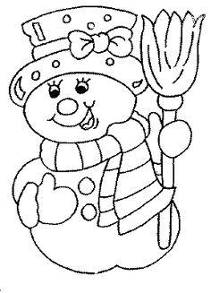 Muñeco de Nieve para colorear         Dibujos para pintar de muñeco de nieve de Navidad