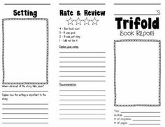 Trifold Book Report This pamphlet/brochure booklet is an easy and simple book report for any of your students to do. In this purchase you will find the template for trifold and a rubric for grading it.