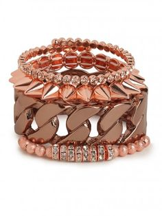 bauble bar rose glam stack!