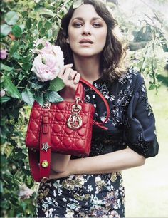 Spotlight on the new 'Lady Dior' campaign finally being unveiled. Discover the iconic Dior muse Marion Cotillard, as shot by the photographer Craig McDean, with a 'Lady Dior' bag boasting the covetable detail of pins spelling out her initials. Marion Cotillard, Craig Mcdean, Dior Handbags, Louis Vuitton Handbags, Dior Bags, Luxury Handbags, Dior Fashion, Fashion Bags, Female Fashion