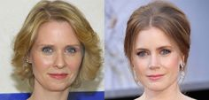 Cynthia Nixon and Amy Adams are almost twins