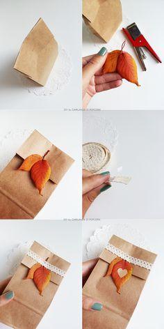 Ghirlanda di Popcorn: fall in love: package inspiration