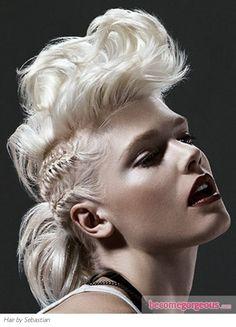Retro punk braided hair
