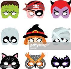 Halloween printable masks.