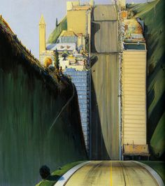 Wayne Thiebaud (USA b. 1920), Park Place (1993) oil on canvas, 60.25 x 54.25 in.