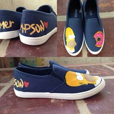 Homer - TinTon's Handpainted Shoes -  Visit us  @ https://facebook.com/tintonsshoes Http://i.instagram.com/tintonsshoes/ For more shoe designs :D - Handpainted . Personalized . Customized Shoes - By: Tin & Ton
