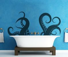 Fun, if not slightly scary, tentacle bathroom wall sticker