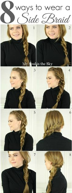 8 Fun Ways to Wear a Side Braid! - missy sue