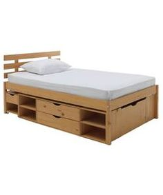 Buy Argos Home Ultimate Storage II Small Double Bed Frame at Argos. Thousands of products for same day delivery or fast store collection. Small Double Bed Frames, Wooden Double Bed, Double Bed With Storage, Double Beds, Teenage Beds, Cama Ikea, Double Bed Designs, Beds Uk, Pine Beds