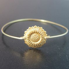Sunflower Bracelet Sunflower Jewelry Gold by FrostedWillow on Etsy, $15.95 I LOVE SUNFLOWERS