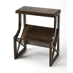 Butler Specialty Company Stowe Brown Console Table 5327354 | Bellacor Square Side Table, Metal Side Table, Marble End Tables, Brown Wood, Dark Brown, Oval Coffee Tables, Book Table, Wood Ladder, Container Gardening