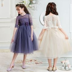 Flower girl dresses for weddings party 2 3 4 5 6 7 8 9 10 11 12 13 14 15 16 years teenager girl brand summer princess tutu dress