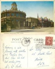 b0207 Sheldonian Theatre, Oxford postcard posted 1953 stamp Valchrome