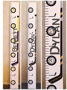 Zoomie Kids Dex Hockey Growth Chart Personalized Wall Hanging