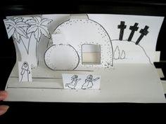pop-up Easter scenes for Sunday school