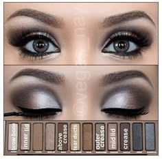 Another pretty smokey eye using the naked palette.