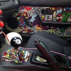 Custom Miata Interior. Marvel Universe!!