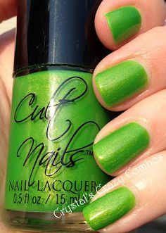 Cult Nails - Deal with it ( Coco's Untamed Collection) . The most fun green ever! #cultnails #jointhecult