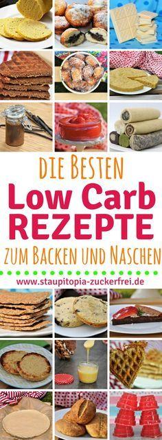 Low Carb Rezepte zum Backen und Naschen: Hier kommen die 20 beliebtesten und besten Low Carb Rezepte 2017 für Kuchen, Gebäck, Süßigkeiten, Brot und Frühstück - schnell, einfach und super lecker! #lowcarbrezepte #lowcarbbacken #staupitopia