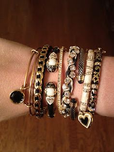 Love the black and gold. More bracelets!