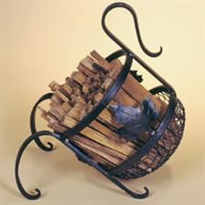 Kindling Holder - Because small sticks are tough to corral and keep looking great on your fireplace hearth - that's why! Firewood 101