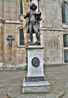 "Samuel Johnson statue, London  To discover what a ""shaveling"" is, the Gunner takes George and Edie to ""The Dictionary""  He tells them a shaveling is a monk - with a shaved tonsure, and a black monk is Black Friar at Blackfriar's further in the city."