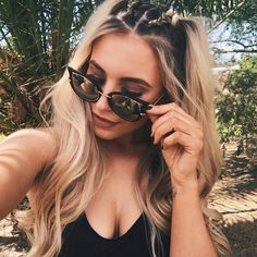just call me baby spice 🌸 pool party vibes with hair b Pool Hairstyles, Summer Hairstyles, Pigtail Hairstyles, Pool Party Hair, Coachella Hair, Coachella Makeup, Rave Hair, Baby Spice, Surfer Girls
