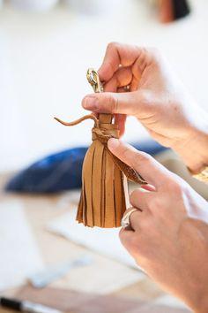 Tutorial: DIY Leather Tassel Keychain
