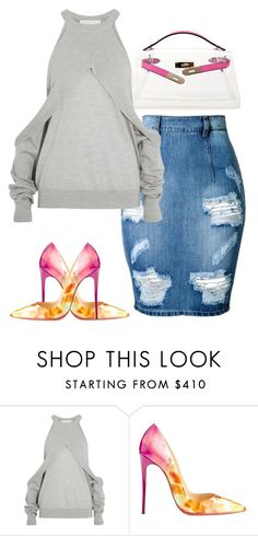 """Untitled #6150"" by stylistbyair ❤ liked on Polyvore featuring Dion Lee and Christian Louboutin"