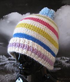 4d8c7d2e471 Ravelry  Chunky Stripe Bobble Beanie Hat pattern by Christine Grant Crochet  Winter