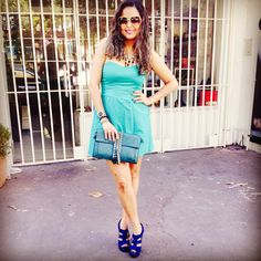 Look Vert  Vestido: Abusiva Sapato: Via Marte Clutch: Eliane Grisolia Óculos: Lupa Lupa