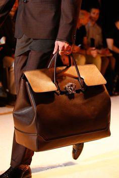 Versace Versace Bag, Versace Backpack, Bag Accessories, Mens Luggage, Luggage Bags, Leather Bags For Men, Leather Men, Fashion Bags, Mens Fashion
