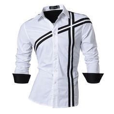 Men's Shirts, Spring Features Casual Long Sleeve Z006