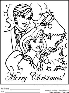 Merry christmas coloring pages barbie mermaid Barbie Coloring Pages, Coloring Pages To Print, Colouring Pages, Coloring Pages For Kids, Coloring Books, Merry Christmas Coloring Pages, Christmas Barbie, Printable Coloring Sheets, Barbie And Ken