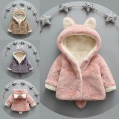 Toddler Baby Kids Girls Fleece Coat Winter Warm Hooded Jacket Outwear Overcoat - Baby By Overcoat Jacket - Ideas of Baby By Overcoat Jacket Girls Winter Coats, Kids Coats, Baby Girl Fashion, Kids Fashion, Womens Fashion, Baby Boutique Clothing, Ebay Clothing, Baby Girl Winter, Baby Coat