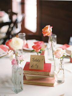 eclectic wedding center pieces  simple wedding center piece  pink winter wedding